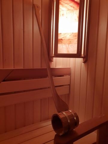 Дубовый ковш для бани