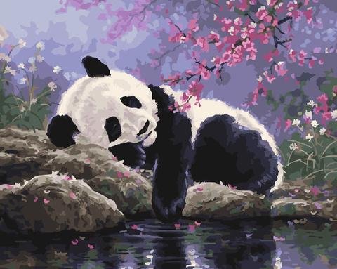 Алмазная Мозаика 20x30 Панда отдыхает