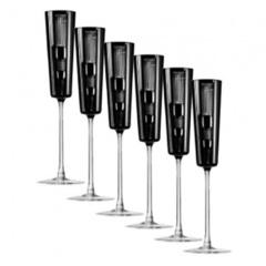 Набор фужеров для шампанского Champagne Retro Black, 110 мл, 6 шт., фото 1