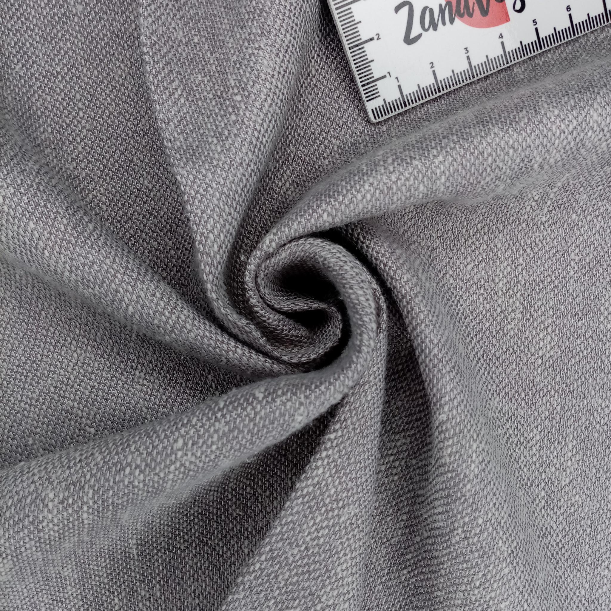 Ткань для портьер однотонная под лён NATUREL
