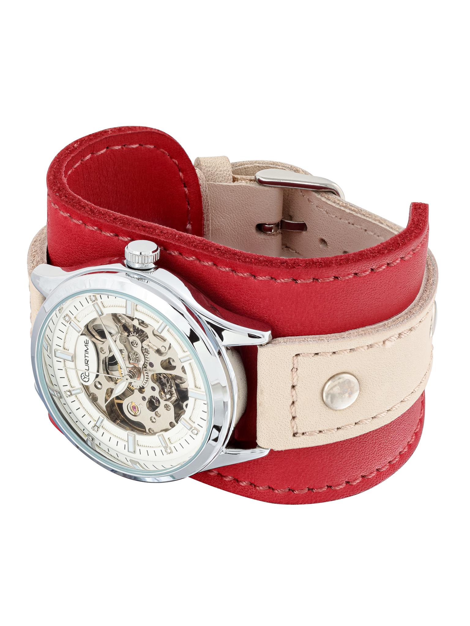 Часы скелетоны женские механические Strawberry YOURTIME
