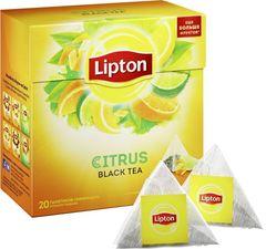 Чай черный Lipton цитрус 20 пирамидок