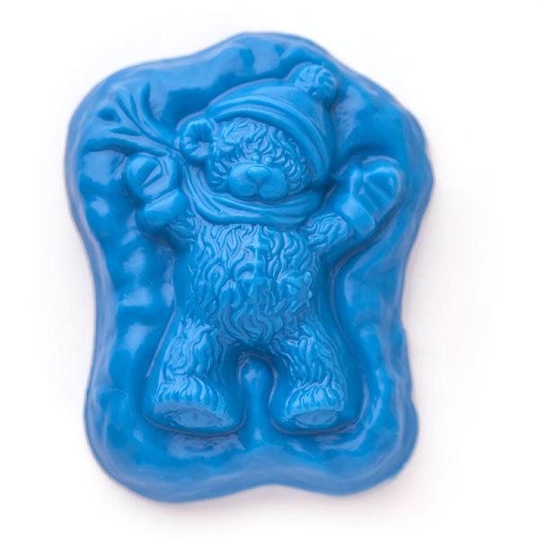 Форма пластиковая для мыловарения Мишка в сугробе