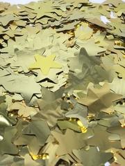 Конфетти фольга, Звезды, Золото, 50гр, 3см