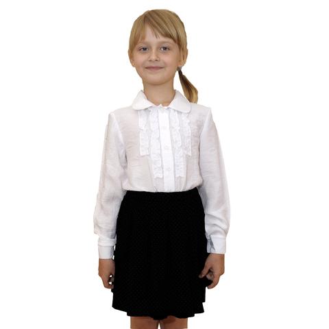 Школьная блузка для девочки (белая)