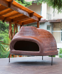 Дровяная печь для пиццы Калабрия большая