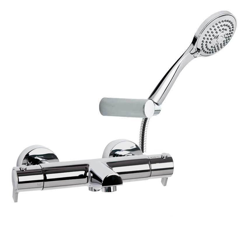 Смеситель термостатический для ванны с изливом и душевым комплектом BLAUTHERM 943801T3
