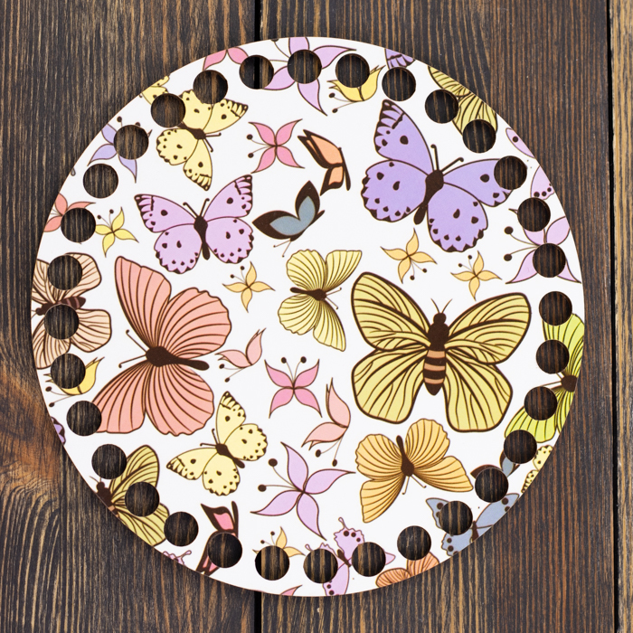 """Заготовки с рисунками Круглая заготовка с рисунком """"Бабочки"""" 15см из фанеры IMG_9062.jpg"""