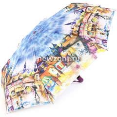 Компактный зонт автомат Lamberti 4 сложения старый Краков