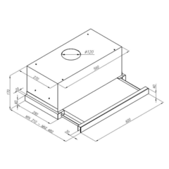 Вытяжка Konigin Helena II Glass Ivory 60 - схема