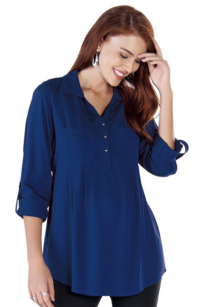 Блузка для беременных 09105 синий