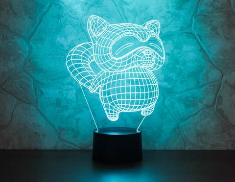 3D ночник Енот