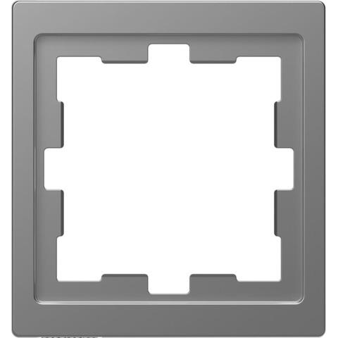 Рамка на 1 пост. Цвет Нержавеющая сталь. Merten. D-Life System Design. MTN4010-6536