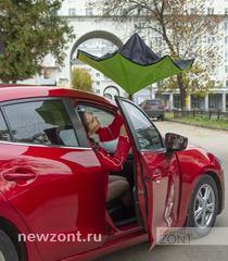 Зонт наоборот салатовый полуавтомат (открытие)