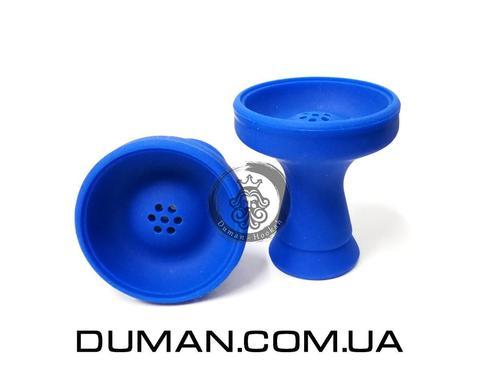 Силиконовая чаша с бортом Синяя для кальяна