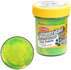 Паста Berkley PowerBait Natural Scent Trout Bait (пеллетс/флуоресцентный зеленый/желтый)
