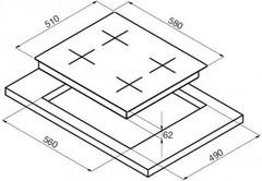 Варочная панель Korting HI 6450 BGR схема