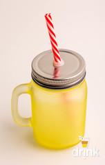 Матовая баночка для смузи - Желтая, фото 2