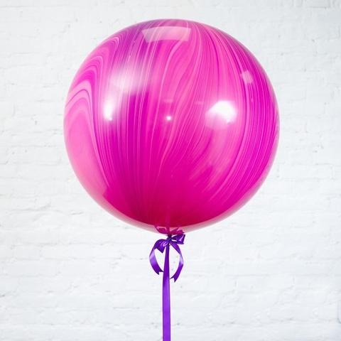 Большой воздушный шар-гигант Агат розовый