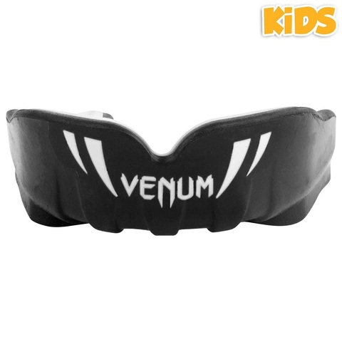 Капа для детей Venum Challenger Kids Mouthguard - Black/White