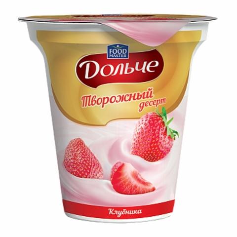 Десерт творожный ДОЛЬЧЕ Клубника 4% 120 г Food Master КАЗАХСТАН