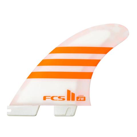 FCS II JW PC Tri Retail Fins Orange/White Medium