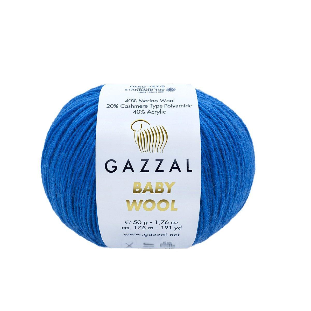 Пряжа Gazzal Baby Wool 802 темно-синий