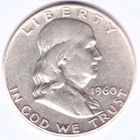 1/2 доллара 1960 (D). США VF-XF (Франклин)