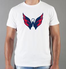 Футболка с принтом НХЛ Вашингтон Кэпиталз (NHL Washington Capitals) белая 001