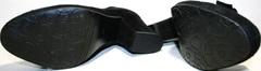 Лодочки туфли на широком каблуке 8 см. Замшевые туфли женские Ilona Black.