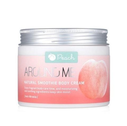 Welcos Around Me Natural Body Smoothie Cream крем-смузи для тела с экстрактом персика