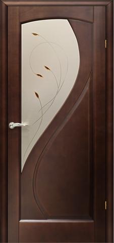 Дверь Танго ПО (тёмный анегри, остекленная шпонированная), фабрика LiGa