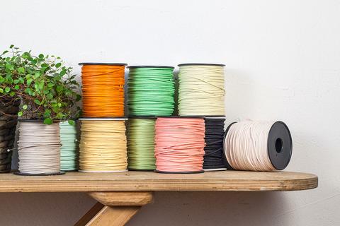 Хлопковый шнур с пропиткой 2 мм, 10 цветов