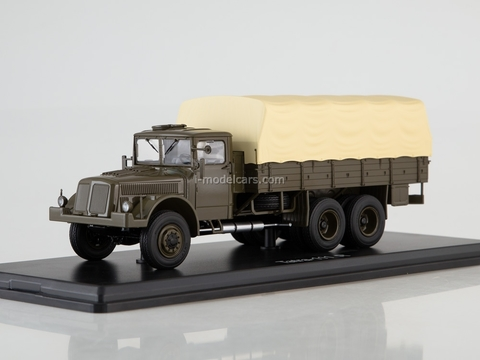 Tatra 111R flatbed truck with awning khaki-beige 1:43 Start Scale Models (SSM)