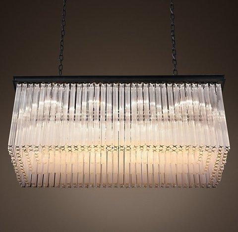 Подвесной светильник копия 1930S Astor Crystal Rectangular Chandelier 40