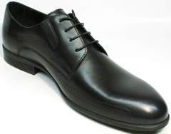 Модельные мужские туфли под костюм Ikos 3416-4 Dark Blue.