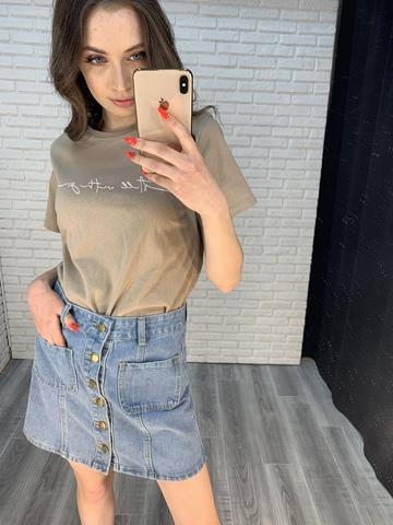 джинсовая юбка с пуговицами спереди nadya