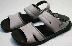 Стильные мужские сандалии серого цвета Ikoc 3294-3 Gray.