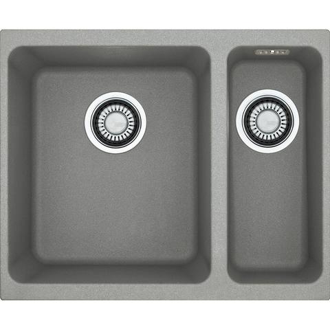 Кухонная мойка Franke Kubus KBG 160, серый камень