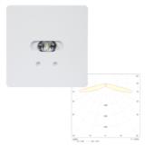 Светильники светодиодные потолочные квадратные встраиваемые для освещения эвакуационных путей SLIMSPOT II Line LOWBAY Teknoware