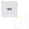 Светильники светодиодные потолочные квадратные встраиваемые для освещения эвакуационных путей SLIMSPOT II Line LOWBAY Teknoware с диаграммой светораспределения