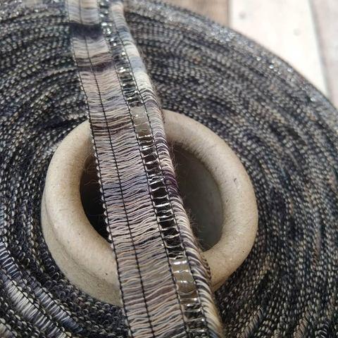 Хлопковая лента FILATI COLOR PASSEPARTOUT серый серебром