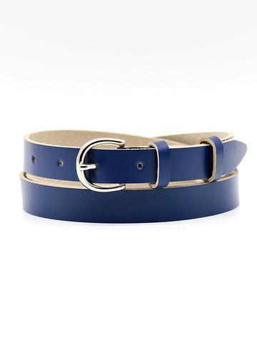 Женский кожаный синий ремень 20 мм Coscet WW20-1-7