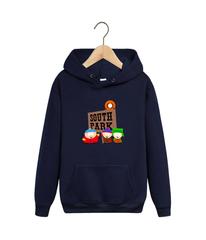 Толстовка темно-синяя с капюшоном (худи, кенгуру) и принтом Южный парк (South Park) 002