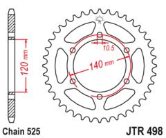 Звезда задняя JT R 498.44 Suzuki GSX-R 750