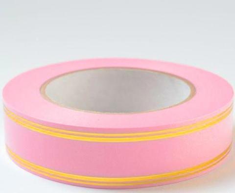 Лента золотая полоса PL (размер: 2 см х 50 ярдов) Цвет: розовый