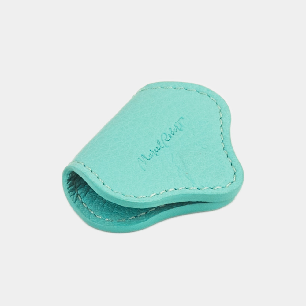 Чехол-держатель для наушников Chapeau Easy из натуральной кожи теленка, цвета тиффани