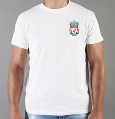 Футболка с принтом FC Liverpool (ФК Ливерпуль) белая 0014