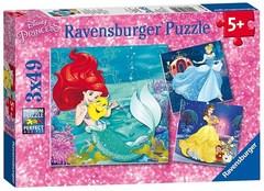 Puzzle Princesses Adventure 3x49 pcs