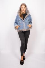 Джинсовая куртка женская с мехом и капюшоном интернет магазин